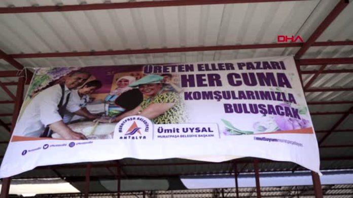ANTALYA Muratpaşa'da 'üreten eller pazarı' açıldı