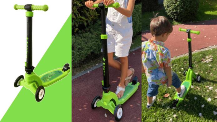 Çocuklar İçin Üretilen Yeşil Çocuk Scooterı Mini Martı Satışa Sunuldu