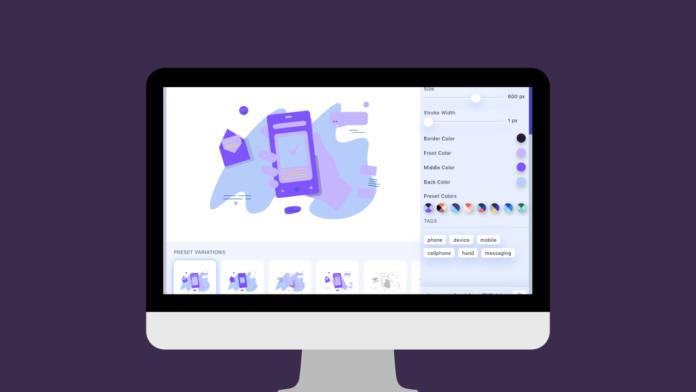 Web Sitesi Tasarımları İçin Özelleştirilebilir İkon ve İllüstrasyon Bankası Shape