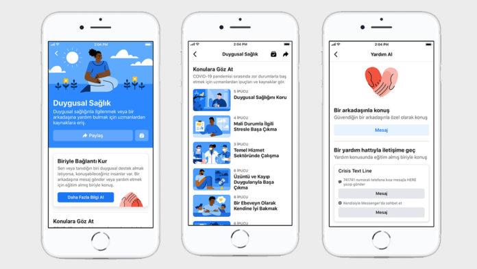 Facebook, Ruh Sağlığı Desteği Almak İsteyen İnsanlara Yönelik Duygusal Sağlık Kaynak Merkezi'ni Hayata Geçirdi