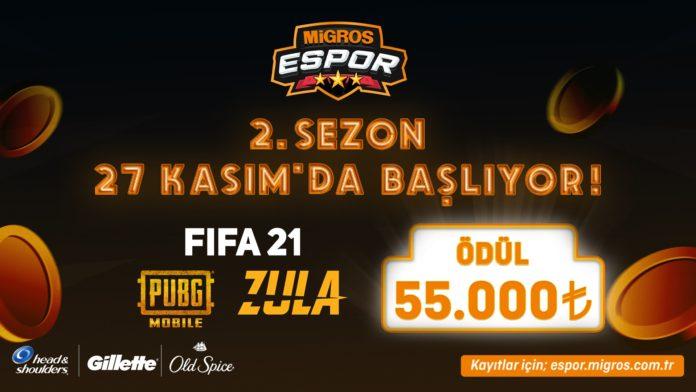 Migros E-Spor Turnuvası'nda 2. Sezon Başlıyor