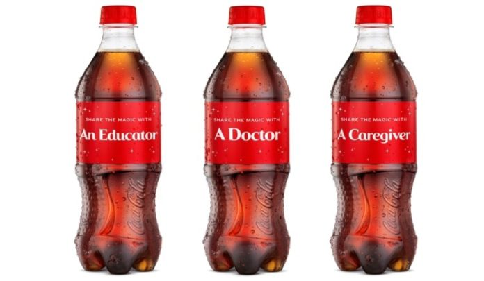 Coca-Cola'dan Pandemi Kahramanlarına Özel Kişiselleştirilmiş Şişeler