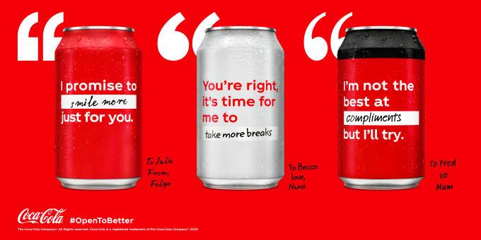 Coca-Cola Kutularında Pozitif Değişim Hareketi