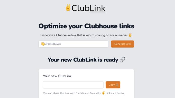 Clubhouse bağlantılarını optimize eden platform: ClubLink