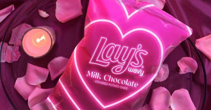 Lay's Sevgililer Günü için Çikolata Kaplı Cips Çıkardı