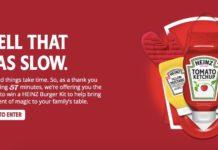 57 Dakikada Yüklenen Heinz'ın Web Sitesi, Sabırla Bekleyenlere Heinz Kiti Hediye Ediyor