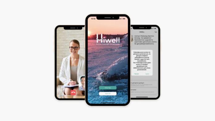Hiwell Görüntülü görüşme veya mesajlaşma ile psikolojik danışmanlık hizmeti veren uygulama