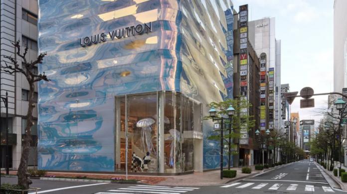 Japonya'da Su Kütlesini Somutlaştıran Louis Vuitton Mağazası