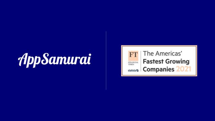 Yerli girişim App Samurai, Financial Times'a göre ABD'nin en hızlı büyüyen 500 şirketinden 24. oldu
